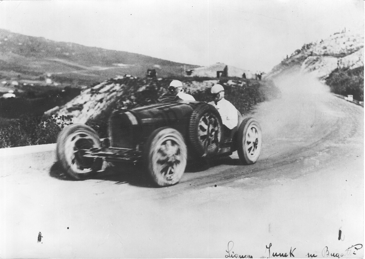 Signora Junek at the Targa Florio route